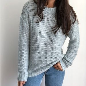 NWT Chelsea & Theadore mohair blend knit sweater L